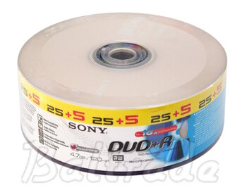 Płyty DVD+R 4,7GB 16X SONY SP25+5