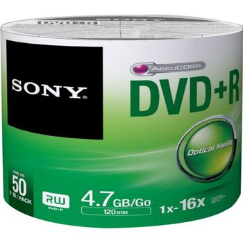 Płyty DVD+R 4,7GB 16X SONY SP50
