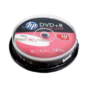 Płyty DVD+R DL 8,5GB 8X HP cake10