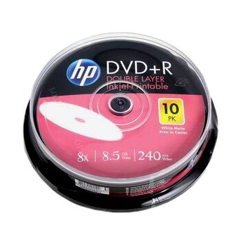 Płyty DVD+R DL 8,5GB 8X HP Inkjet Printable cake10