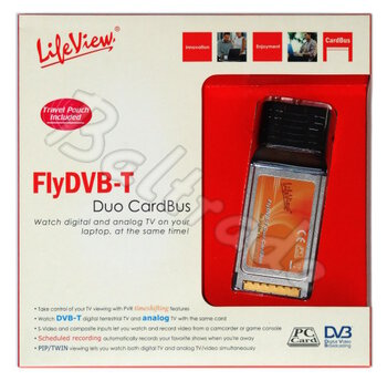 Tuner TV Lifeview FlyDVB-T DUO na PCMCIA