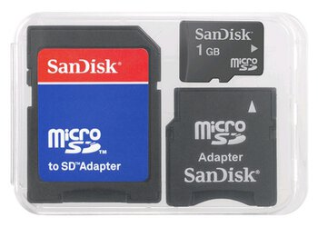 zestaw SanDisk micro / mini / SD Multi Kit 2GB