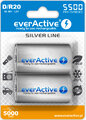 2 x akumulatorki everActive R20/D Ni-MH 5500 mAh ready to use