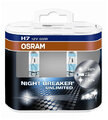 2x Osram H7 NightBreaker UNLIMITED + 110% światła (duo pack)