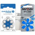 60 x baterie do aparatów słuchowych Rayovac Extra Advanced 675 + 6 x everActive ULTRASONIC 675