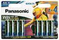 8 x Panasonic Evolta LR6/AA Power Rangers (blister)