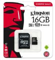 Karta pamięci Kingston Canvas Select microSD (microSDHC) 16GB class 10 UHS-I U1 - 80MB/s + adapter SD