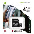 Karta pamięci Kingston Canvas Select Plus microSD (microSDXC) 64GB class 10 UHS-I U1 V10 A1 - 100MB/s + adapter