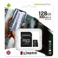Karta pamięci Kingston Canvas Select Plus microSD (microSDXC) 128GB class 10 UHS-I U1 V10 A1 - 100MB/s + adapter