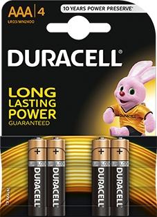 4 x bateria alkaliczna Duracell Duralock C&B LR03 AAA (blister)