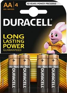 4 x bateria alkaliczna Duracell Duralock Basic C&B LR6 AA (blister)