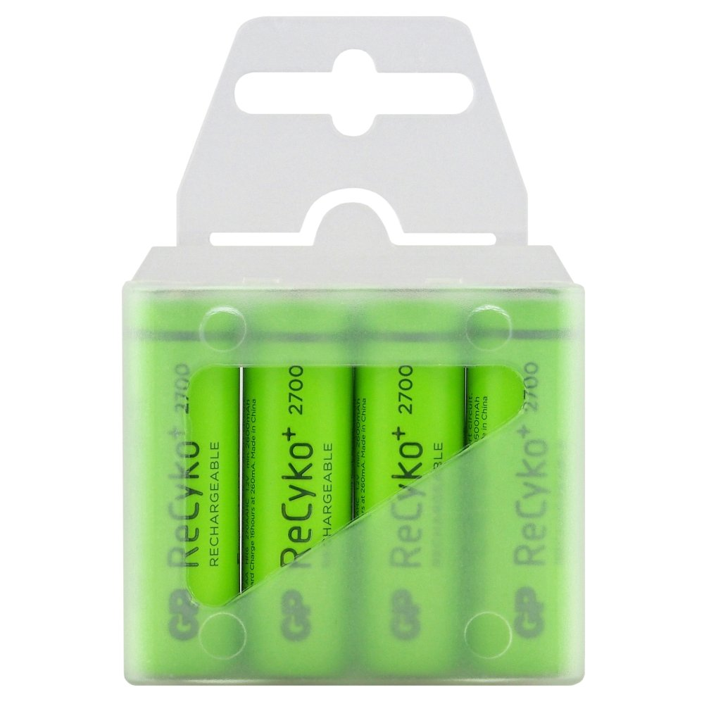 4 x akumulatorki R6/AA GP ReCyko+ 2700 Series 2600mAh (box)