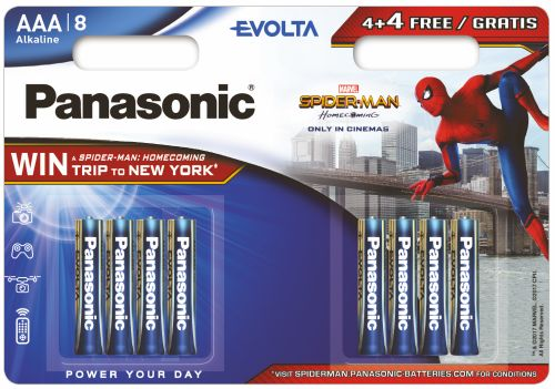 96 x Panasonic Evolta LR03/AAA (blister) SPIDER MAN