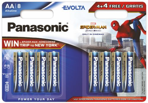 8 x Panasonic Evolta LR6/AA (blister) SPIDER MAN