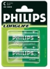 2 x Philips LongLife R14/C (blister)