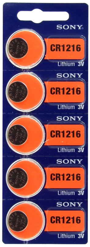5 x bateria litowa mini Sony CR1216