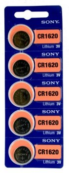 5 x bateria litowa mini Sony CR1620