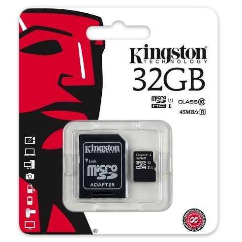 karta pamięci Kingston microSDHC 32GB class 10 UHS-I + adapter SD