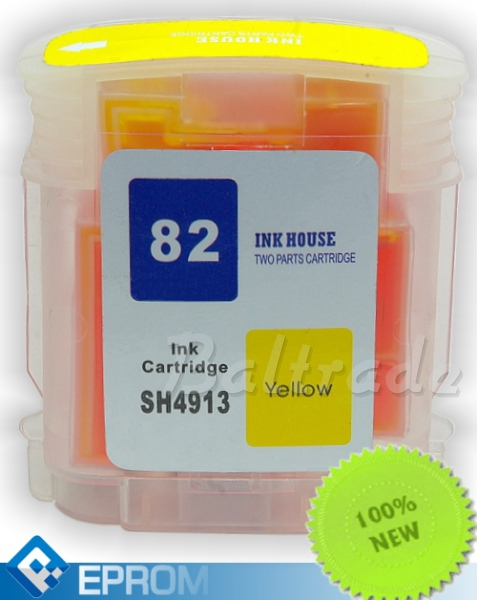 Tusz HP 82 Yellow 69 ml (C4913A)