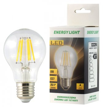 Żarówka LED Filament E27 8W kulka Energy Light